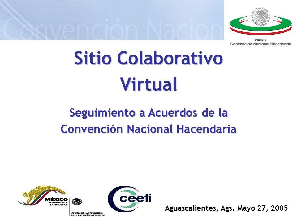 Sitio Colaborativo Virtual Seguimiento a Acuerdos de la Convención Nacional Hacendaria Aguascalientes, Ags.