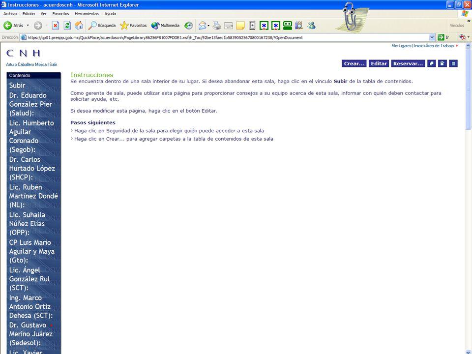 Página de acceso: http://acuerdoscnh.prespp.gob.mx Para mayor información : suhaila@prespp.gob.mx