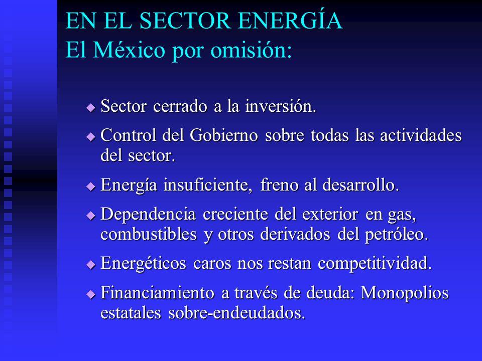 EN EL SECTOR ENERGÍA El México por omisión: Sector cerrado a la inversión.