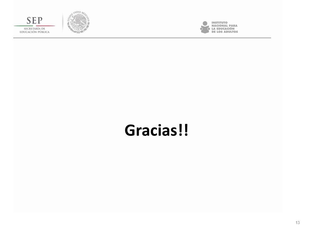 13 Gracias!!