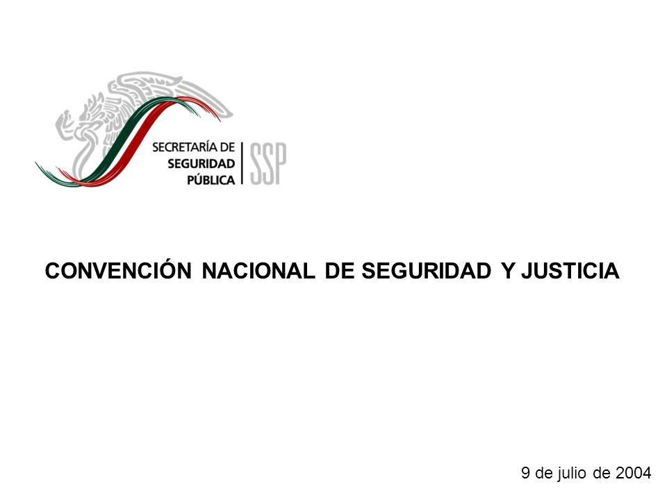 1 CONVENCIÓN NACIONAL DE SEGURIDAD Y JUSTICIA 9 de julio de 2004