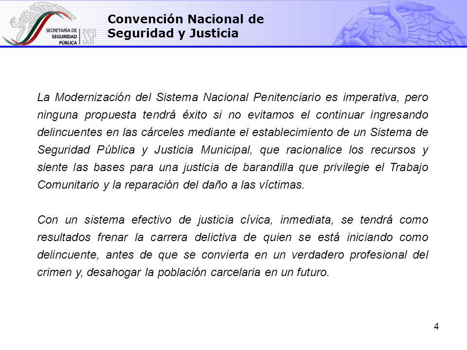 5 Convención Nacional de Seguridad y Justicia Tenemos un problema muy serio de estructura y de presupuesto.