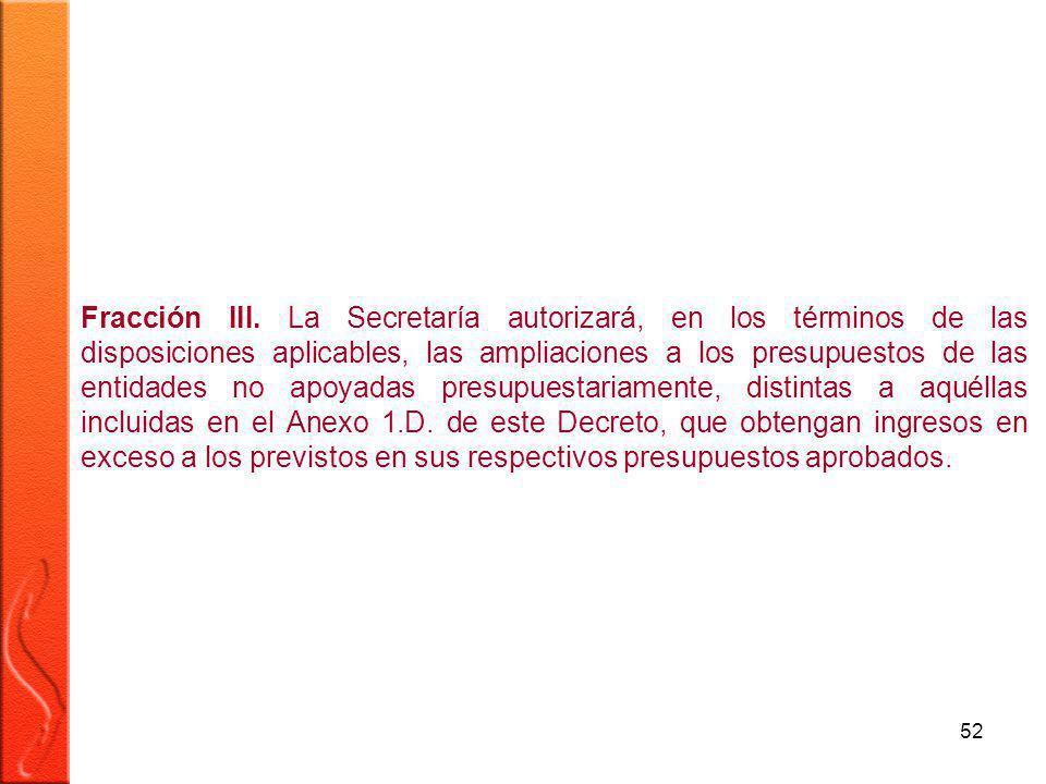 52 Fracción III.
