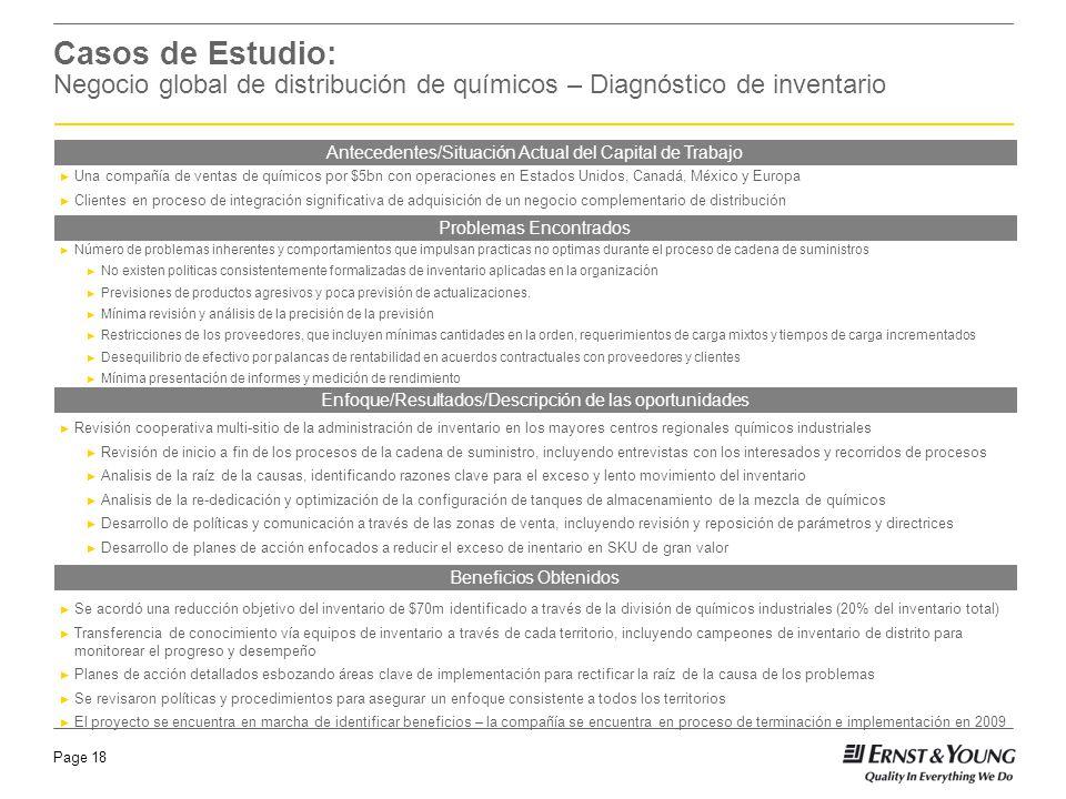 Page 18 Revisión cooperativa multi-sitio de la administración de inventario en los mayores centros regionales químicos industriales Revisión de inicio