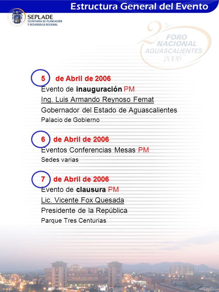 5 de Abril de 2006 inauguración Evento de inauguración PM Ing.