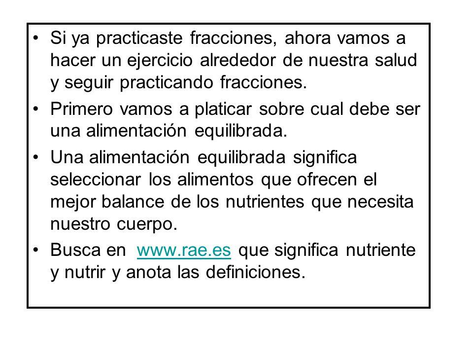Anota las definiciones en esta página. nutriente _________________ nutrir _________________