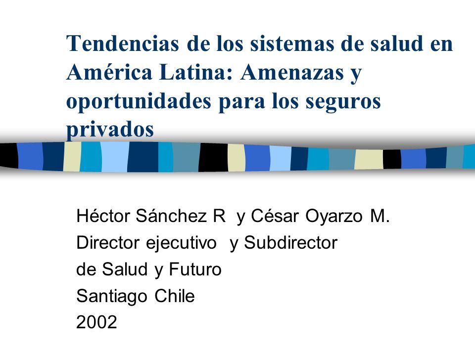 Tendencias de los sistemas de salud en América Latina: Amenazas y oportunidades para los seguros privados Héctor Sánchez R y César Oyarzo M. Director