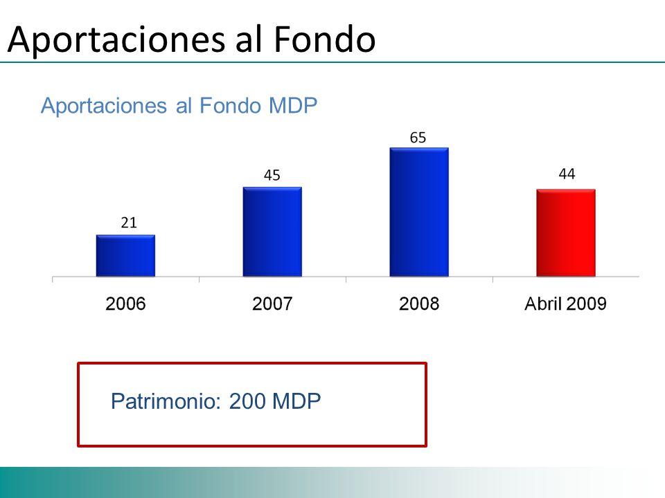 Aportaciones al Fondo Aportaciones al Fondo MDP Patrimonio: 200 MDP