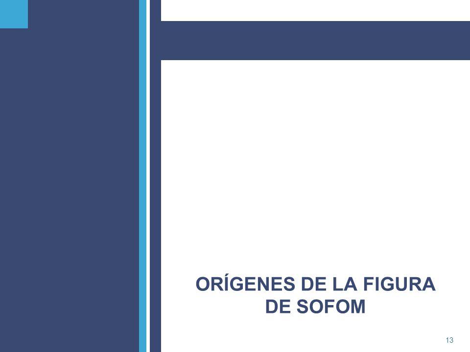 PricewaterhouseCoopers13 ORÍGENES DE LA FIGURA DE SOFOM