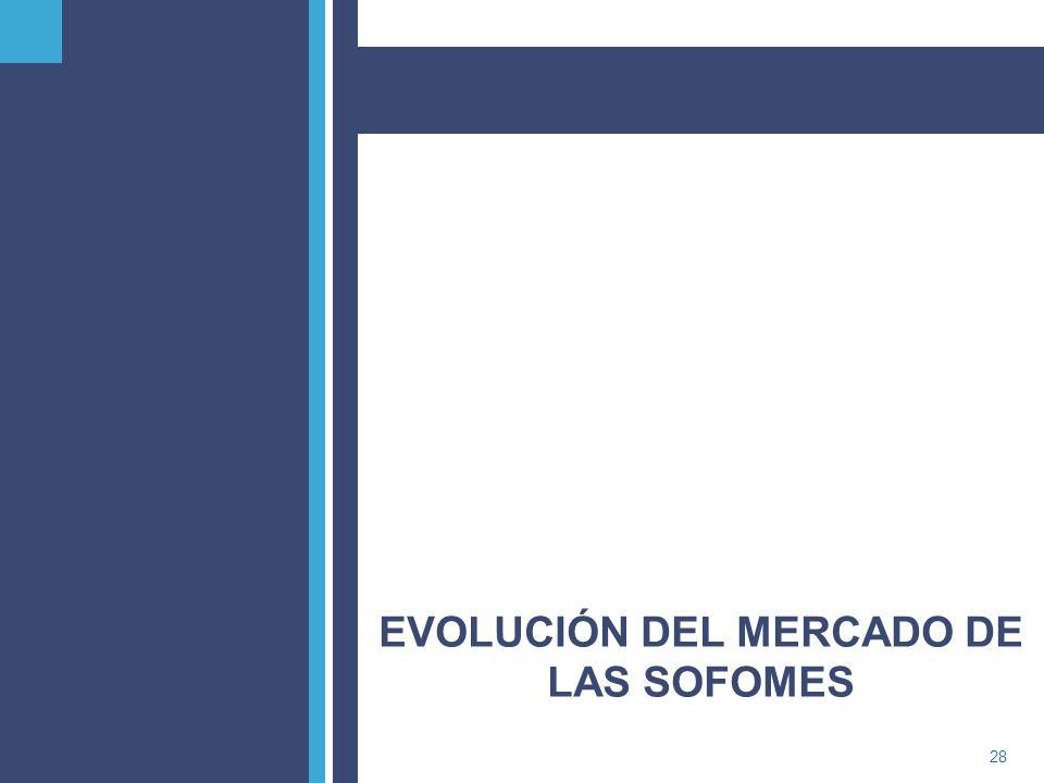 PricewaterhouseCoopers28 EVOLUCIÓN DEL MERCADO DE LAS SOFOMES