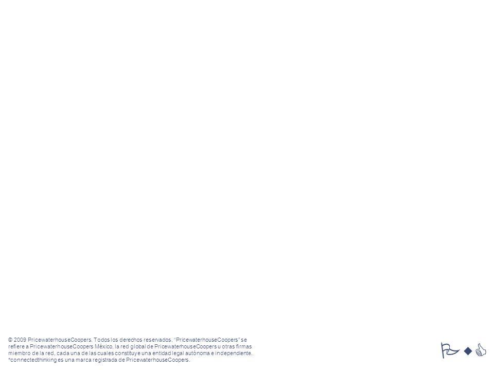 PricewaterhouseCoopers63 VI. Propuesta económica © 2009 PricewaterhouseCoopers. Todos los derechos reservados. PricewaterhouseCoopers se refiere a Pri