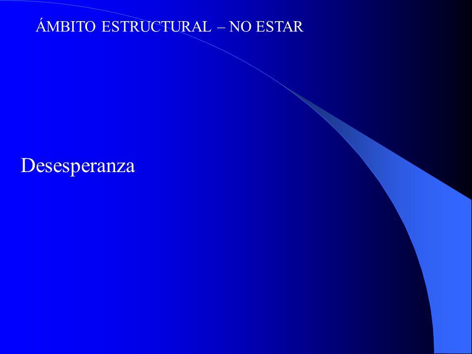 ÁMBITO ESTRUCTURAL – NO ESTAR Desesperanza