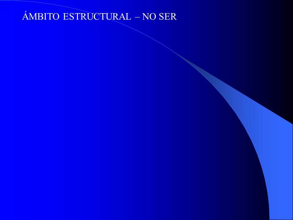 ÁMBITO ESTRUCTURAL – NO SER