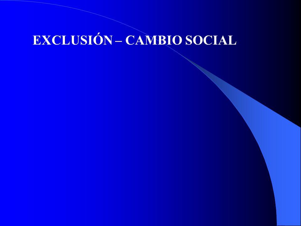 EXCLUSIÓN – CAMBIO SOCIAL
