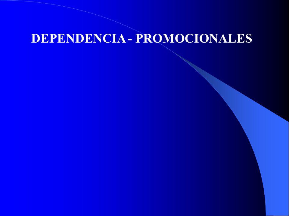 DEPENDENCIA - PROMOCIONALES