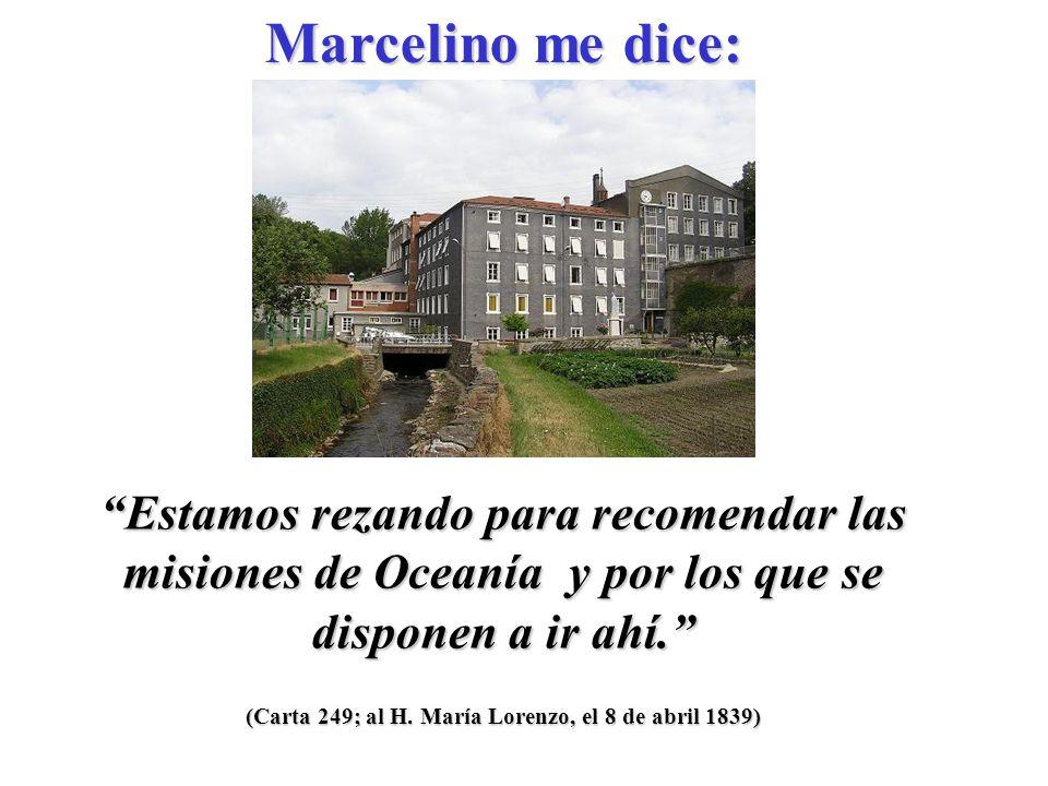 (Carta 249; al H. María Lorenzo, el 8 de abril 1839) ¿No es María su refugio y su buena madre.