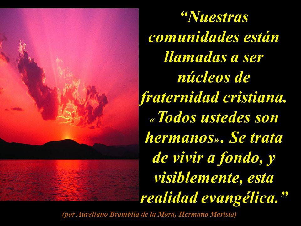 Nuestras comunidades están llamadas a ser núcleos de fraternidad cristiana.