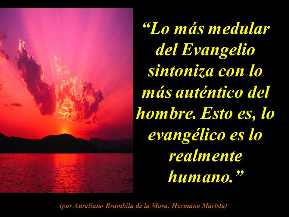 Lo más medular del Evangelio sintoniza con lo más auténtico del hombre.