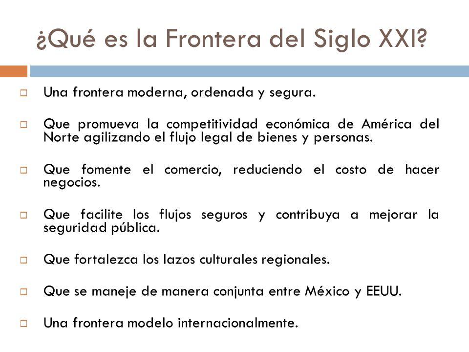 ¿Qué es la Frontera del Siglo XXI. Una frontera moderna, ordenada y segura.