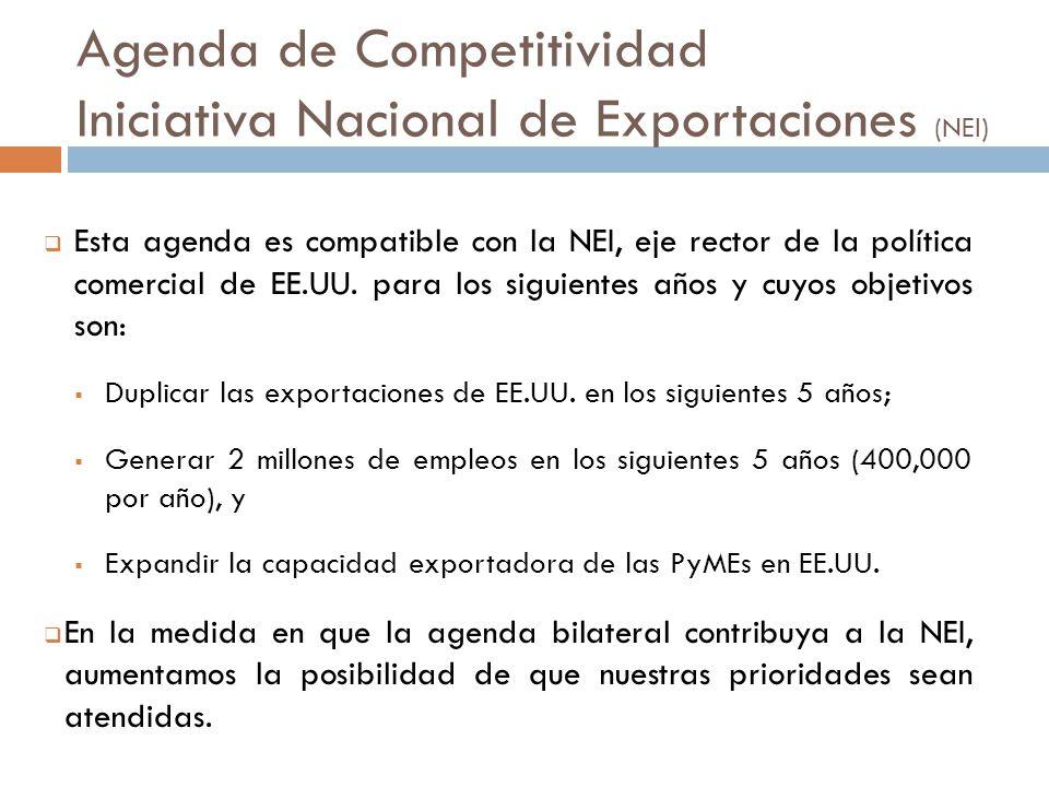 Esta agenda es compatible con la NEI, eje rector de la política comercial de EE.UU.