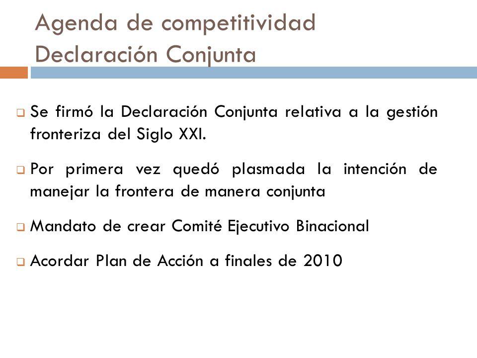 Se firmó la Declaración Conjunta relativa a la gestión fronteriza del Siglo XXI.