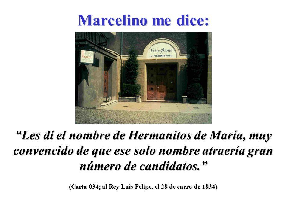 (Carta 030; al Pbro. Juan Cholleton, verano de 1833) María no nos abandona.