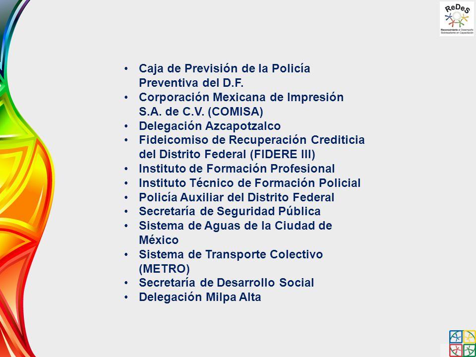 Caja de Previsión de la Policía Preventiva del D.F. Corporación Mexicana de Impresión S.A. de C.V. (COMISA) Delegación Azcapotzalco Fideicomiso de Rec