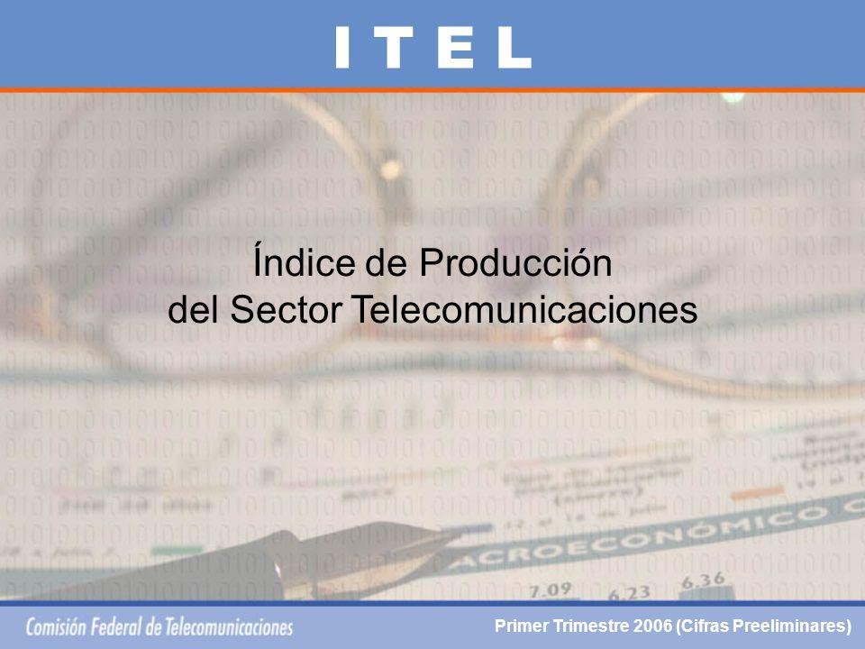 Índice de Producción del Sector Telecomunicaciones I T E L Primer Trimestre 2006 (Cifras Preeliminares)