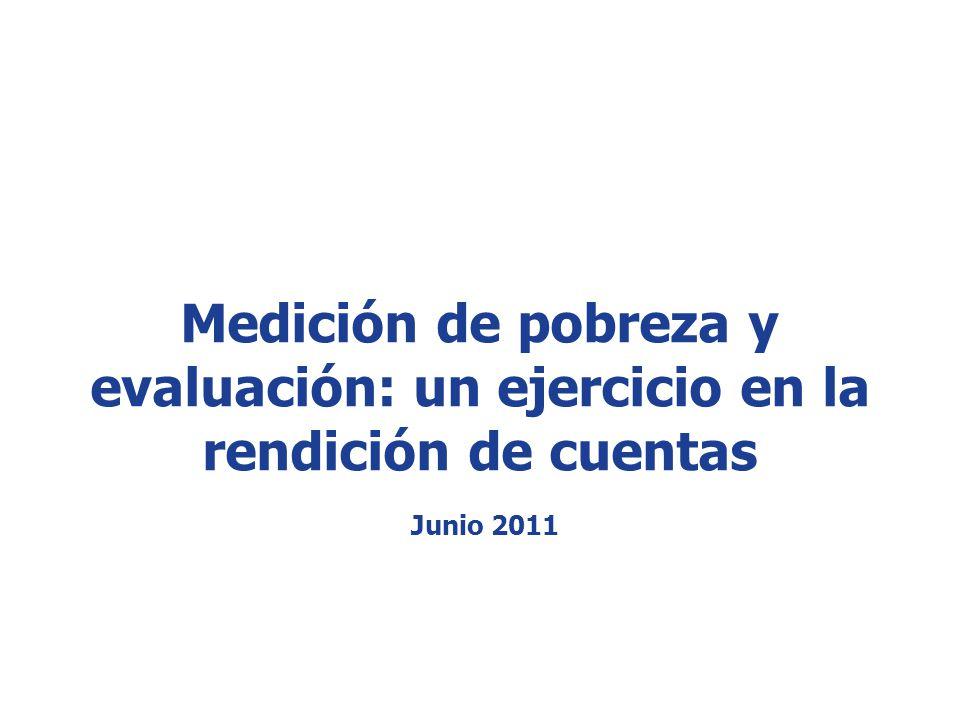 www.coneval.gob.mx Medición de pobreza y evaluación: un ejercicio en la rendición de cuentas Junio 2011