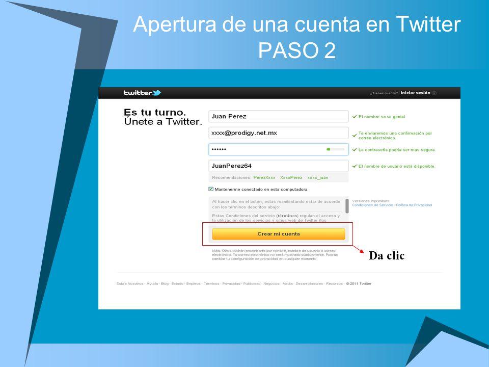 Nombre de usuario Da clic PRIMEROS PASOS