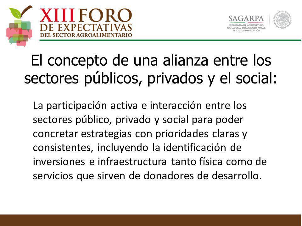 El concepto de una alianza entre los sectores públicos, privados y el social: La participación activa e interacción entre los sectores público, privad
