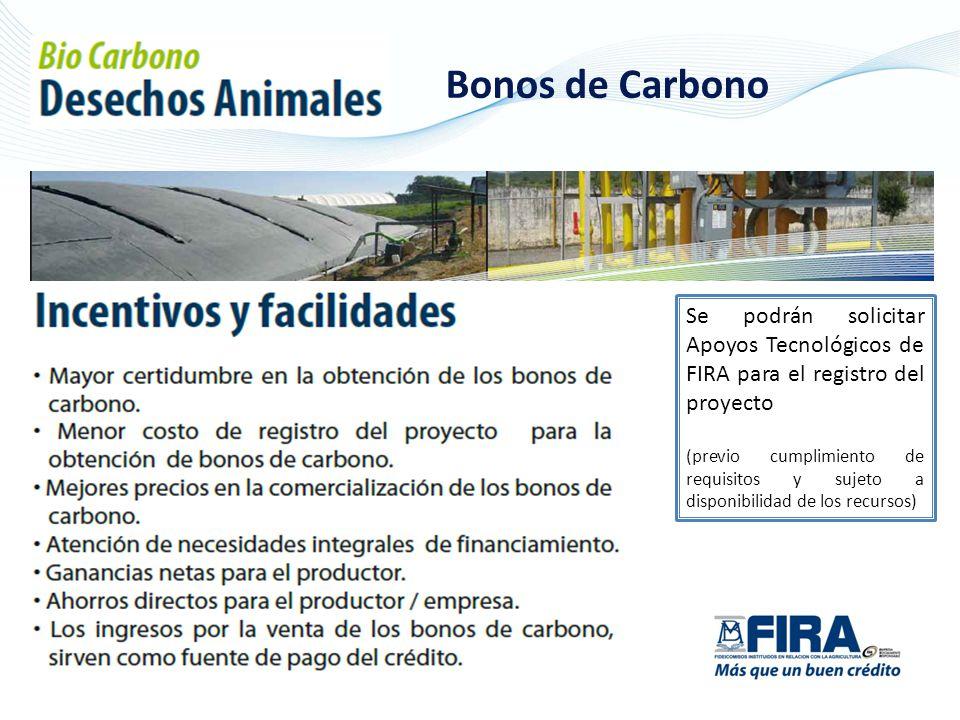 Se podrán solicitar Apoyos Tecnológicos de FIRA para el registro del proyecto (previo cumplimiento de requisitos y sujeto a disponibilidad de los recursos)