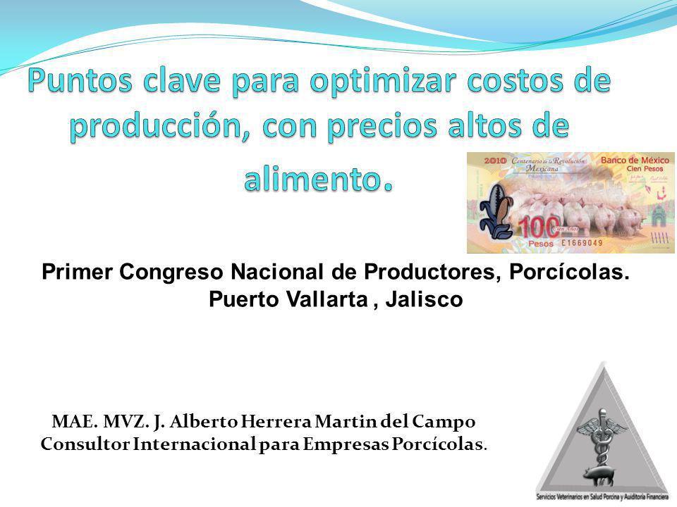 Primer Congreso Nacional de Productores, Porcícolas. Puerto Vallarta, Jalisco MAE. MVZ. J. Alberto Herrera Martin del Campo Consultor Internacional pa