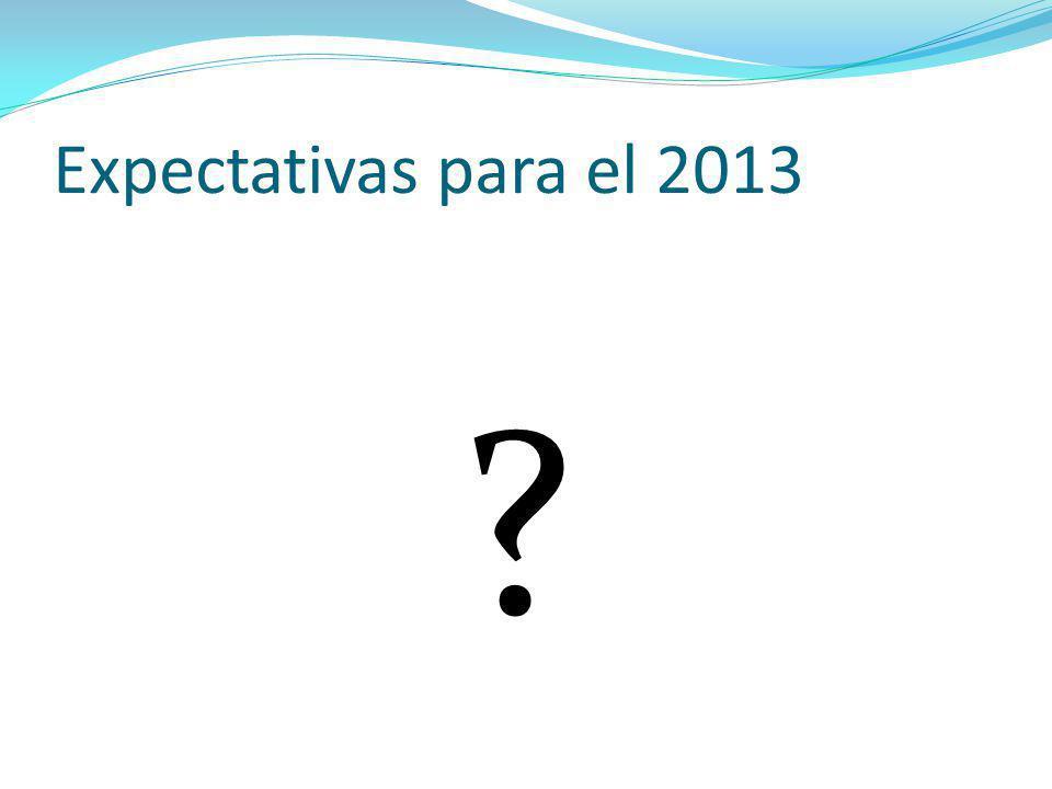 Expectativas para el 2013 ?