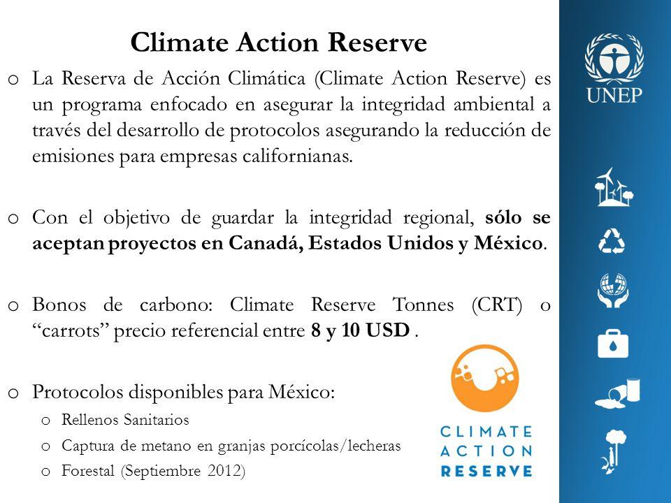 Climate Action Reserve o La Reserva de Acción Climática (Climate Action Reserve) es un programa enfocado en asegurar la integridad ambiental a través