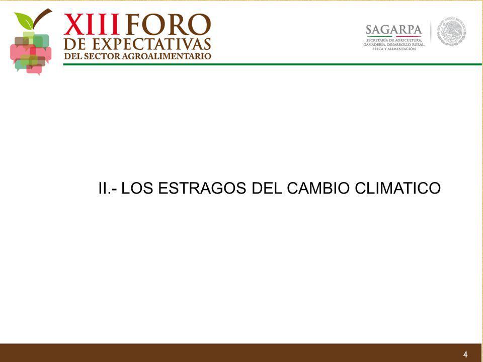 II.- LOS ESTRAGOS DEL CAMBIO CLIMATICO 4