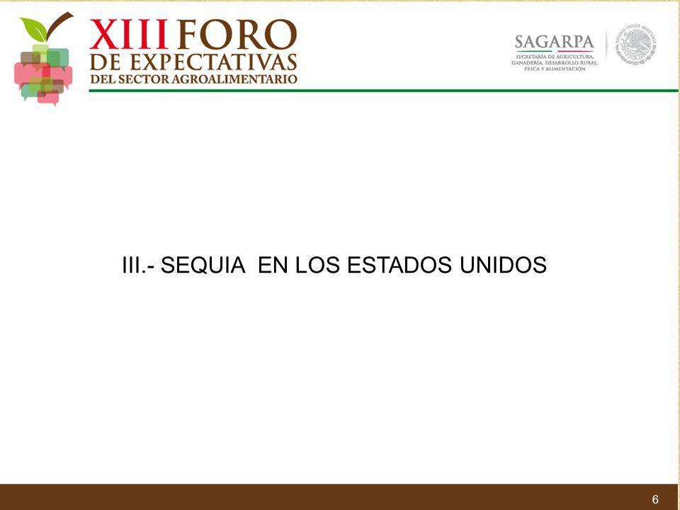 III.- SEQUIA EN LOS ESTADOS UNIDOS 6