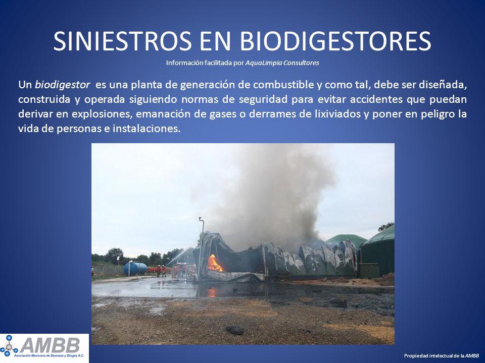 SINIESTROS EN BIODIGESTORES Información facilitada por AquaLimpia Consultores Un biodigestor es una planta de generación de combustible y como tal, de