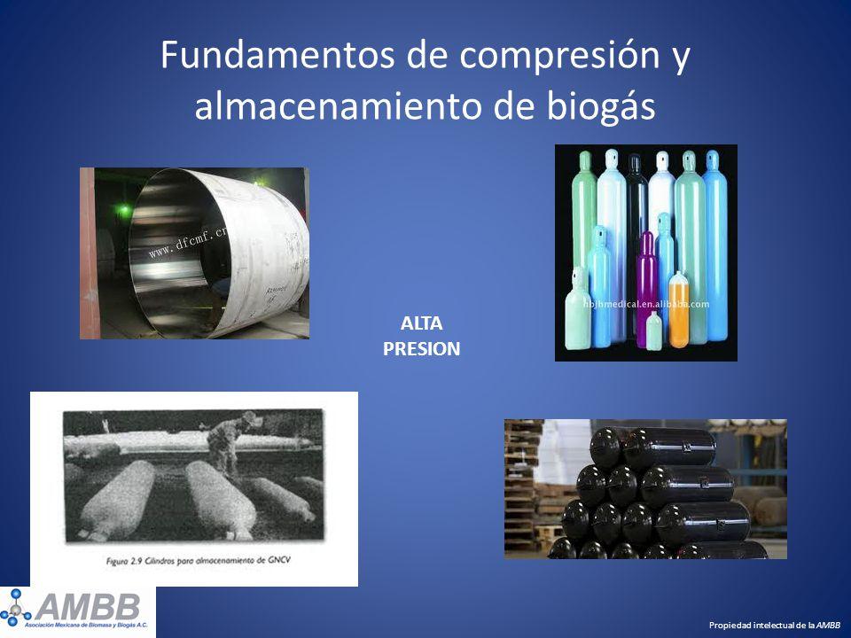 Fundamentos de compresión y almacenamiento de biogás Propiedad intelectual de la AMBB ALTA PRESION