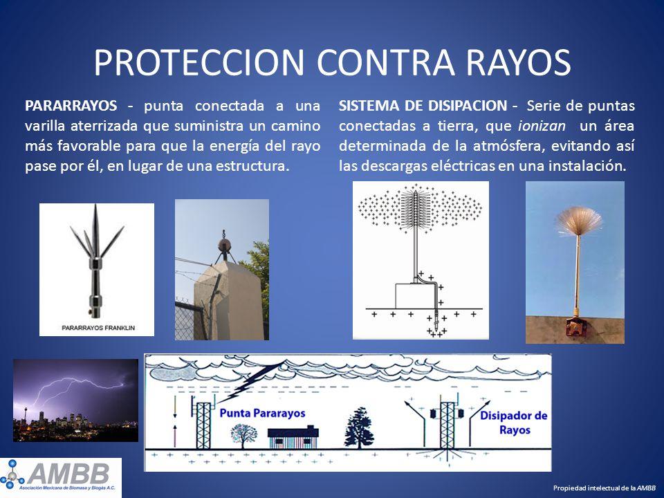 PROTECCION CONTRA RAYOS SISTEMA DE DISIPACION - Serie de puntas conectadas a tierra, que ionizan un área determinada de la atmósfera, evitando así las