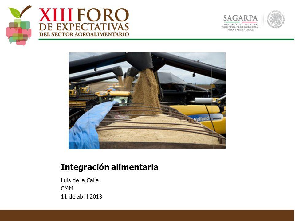 Crecimiento anual promedio exportaciones: 9.1% Crecimiento anual promedio importaciones: 7.9% Crecimiento comercio agroalimentario y pesquero Fuente: SAGARPA, Sic-Agro