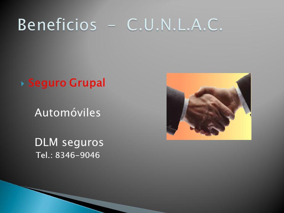 Seguro Grupal Automóviles DLM seguros Tel.: 8346-9046