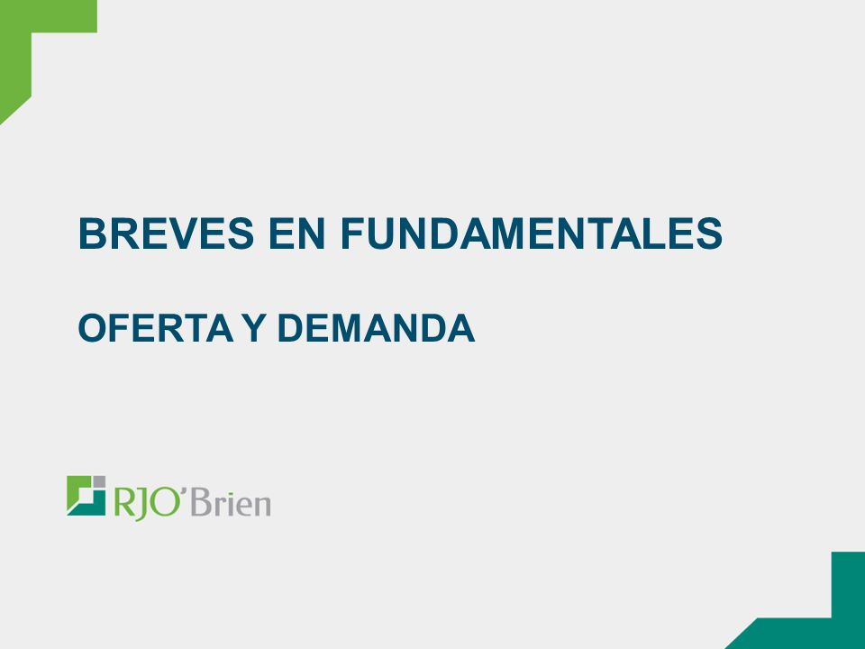 BREVES EN FUNDAMENTALES OFERTA Y DEMANDA