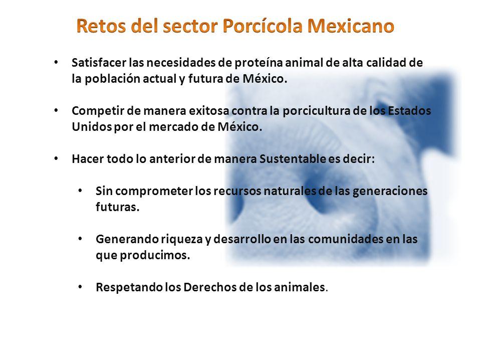 Satisfacer las necesidades de proteína animal de alta calidad de la población actual y futura de México.