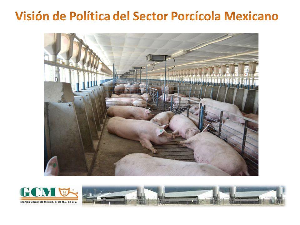 La agricultura de México no es competitiva en términos de: Rendimiento promedio de maíz por Hectárea: 3.0 TM vs 10.5 de los USA.