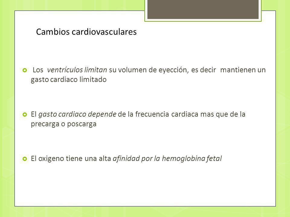 Los ventrículos limitan su volumen de eyección, es decir mantienen un gasto cardiaco limitado El gasto cardiaco depende de la frecuencia cardiaca mas