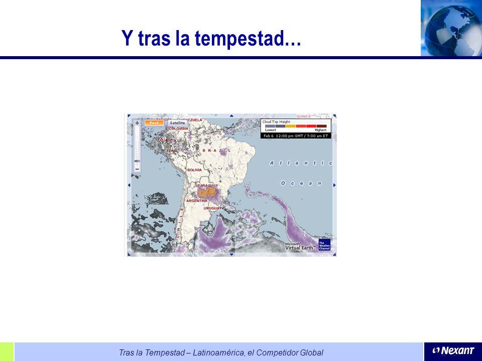 Tras la Tempestad – Latinoamérica, el Competidor Global Y tras la tempestad…