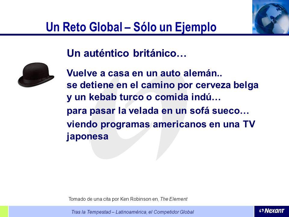 Tras la Tempestad – Latinoamérica, el Competidor Global Un Reto Global – Sólo un Ejemplo Un auténtico británico… Vuelve a casa en un auto alemán.. se