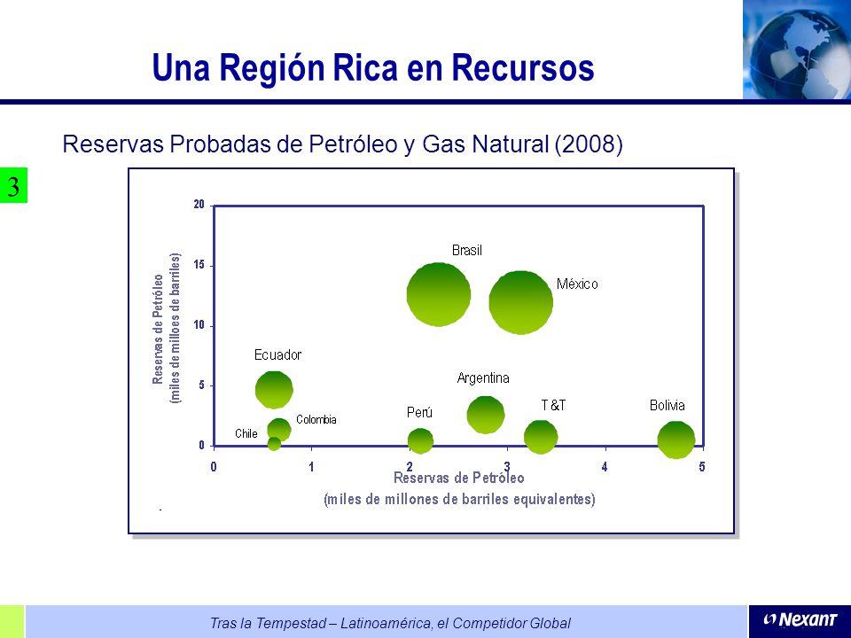 Tras la Tempestad – Latinoamérica, el Competidor Global Una Región Rica en Recursos Reservas Probadas de Petróleo y Gas Natural (2008) 3