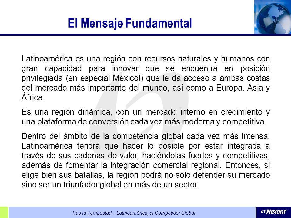 Tras la Tempestad – Latinoamérica, el Competidor Global El Mensaje Fundamental Latinoamérica es una región con recursos naturales y humanos con gran c